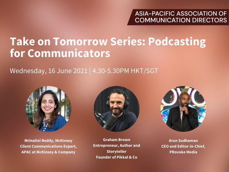 Register Now: Podcasting for Communicators on 16 June